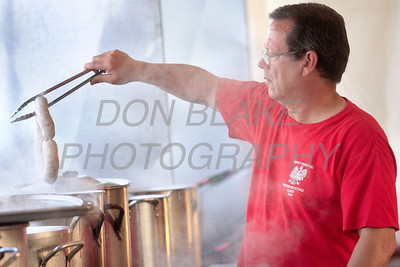 Homemade polish kielbasa during the 2011 Polish Festival at the riverfront near the Frawley Stadium, Monday, September 12, 2011. The festival also includes carnival rides, games, and music and runs until Saturday, September 17.