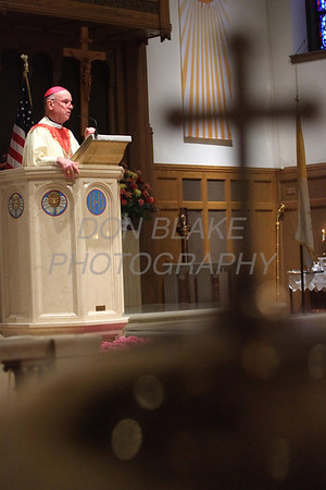 Bishop Malooly delivers his homily during St. Helena Church 75th Anniversary Mass, Saturday, November 5, 2011. photo/Don Blake Photography