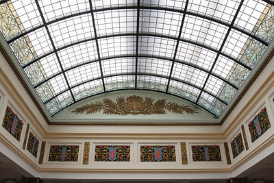 Vaulted stained glass ceiling restoration