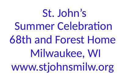 St John's Lutheran Summer Celebration