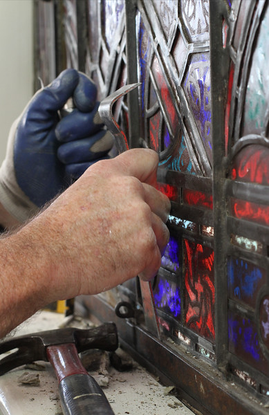 Stained Glass Removal @ St. Joseph Church, Athens