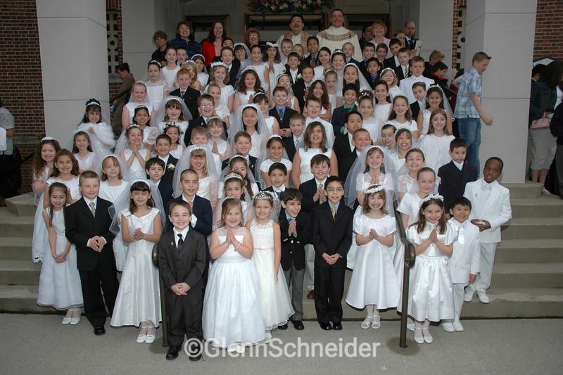 2005 First Communion group photo at Saint Joseph Church, Oradell / New Milford, NJ