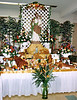 St. joseph's Table at Italian American Heritage Foundation, with a profusion of breads in many shapes, flowers and fruits.