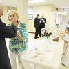 Bob and Lin Reed of Neshannock Township feed each other after cutting the cake for the crowd. The couple, who have been married 61 years, were the longest-married couple to renew their vows Saturday night.<br />  — Tiffany Wolfe