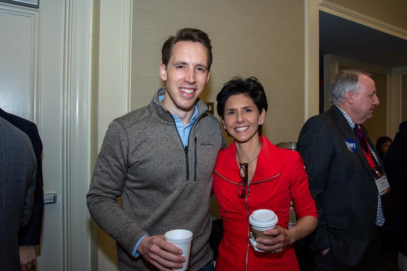 Senator Josh Hawley and Jennifer Bird