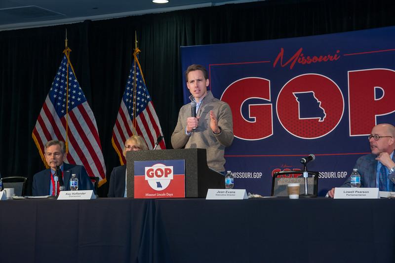 US Senator Josh Hawley