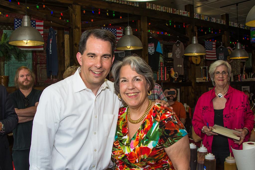 Scott Walker with Mary Beth Engler