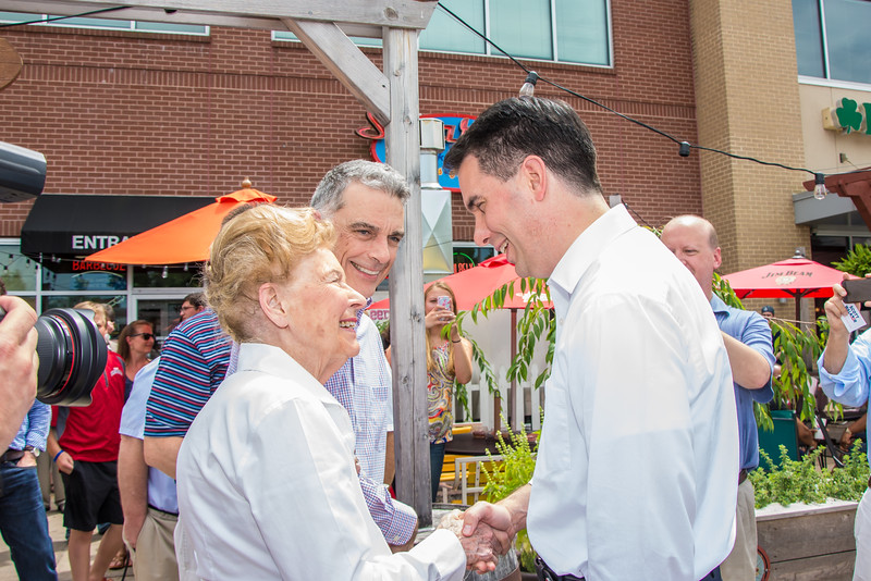 Scott Walker with Phyllis Schlafly
