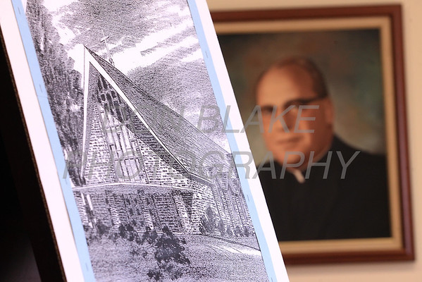 Pictures of St. Mary of the Assumption Church and Fr. Anthony DiMichele pastor St. Mary of the Assumption in 1965 who had the present church built in 1965. photo/ www.DonBlakePhotography.com