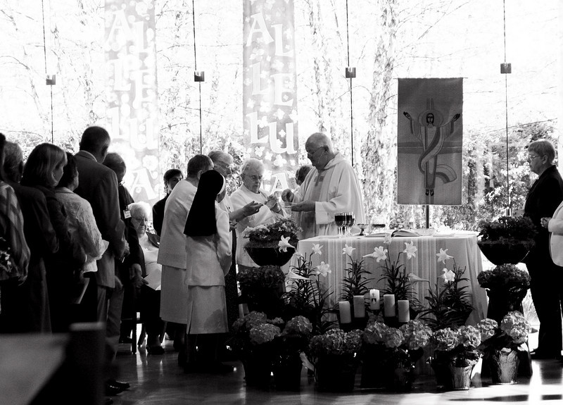 Communion is prepared. St. Mary of the Springs Columbus, Ohio 4/18/2010