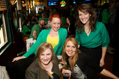 Leah Strasser, Mindy Heithaus, Carol Brammer and MaryKate Moran Cincinnati at Crowley's in Mt. Adams for St. Patrick's Day