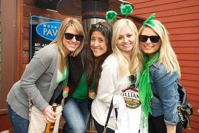 Lindsay, Lindsey, Kate and Jessica at Mt. Adams Pavilion for St Patrick's Day