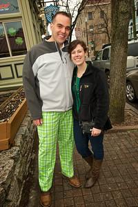 Adam Pulskamp and Katy Lysaght of Cincinnati at Tap & Go in Mt. Adams for St. Patrick's Day
