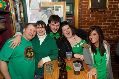 Bill, Ella, Joseph, Genie and Sarah from Cincinnati at Crowley's in Mt. Adams for St. Patrick's Day