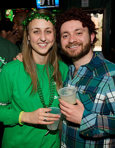 Tracie Stanley (a 4th generation Crowley)  and Chris Groh of Cincinnati at Crowley's in Mt. Adams for St. Patrick's Day