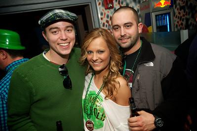 Drew Smith, Ellen Parsley and Jeff Ganim of Cincinnati at Mt Adams Pavilion for St. Patrick's Day