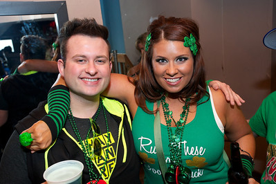 Joey Reibling and Jamie Boyle from Cincinnati at Mt Adams Pavilion for St. Patrick's Day