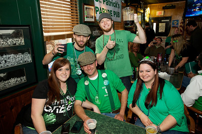 Kara Shaner, Sean Fitzpatrick, Mike Fitzpatric, Sam Mahoney, Christy Newman from Ireland at Crowley's in Mt. Adams for St. Patrick's Day
