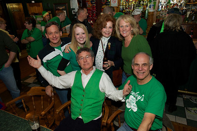 Dan Crowley (green vest)  and the gang at Crowley's in Mt. Adams for St. Patrick's Day