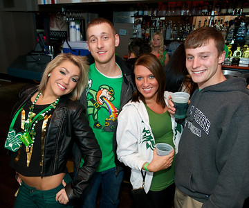 Mallory, Kirker, Jessica and Alex from Amelia at Mt Adams Pavilion for St. Patrick's Day