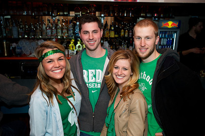 Amanda, Tony, Madeline and Jake at Mt Adams Pavilion for St. Patrick's Day