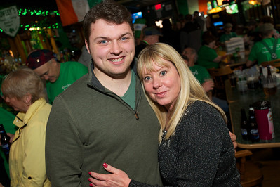 Christopher Groppe and Lesley Reynolds at Crowley's in Mt. Adams for St. Patrick's Day
