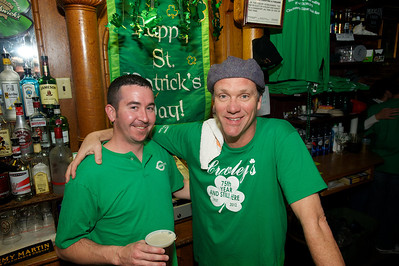 Kevin Crowley and Matt Riesenbeck  at Crowley's in Mt. Adams for St. Patrick's Day