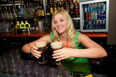 Jessica tends Bar at Mt Adams Pavilion for St. Patrick's Day