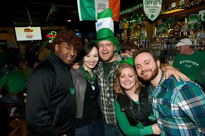 Mike, Kate, Louie, Julie and Chris Cincinnati at Crowley's in Mt. Adams for St. Patrick's Day