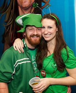 Steven and Laura from Oakley at Mt Adams Pavilion for St. Patrick's Day