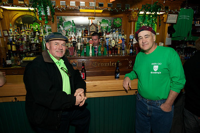 Jerry Cox and Tim Crowley Mt Adams at Crowley's in Mt. Adams for St. Patrick's Day