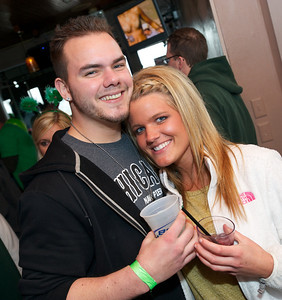 Andrew Beasley and Courtney Zeter from Anderson Twp at Mt Adams Pavilion for St. Patrick's Day