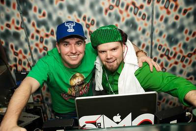DJ Fuseamania and DJ Simo at Mt Adams Pavilion for St. Patrick's Day