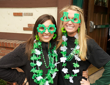 Megan Harrell and Abby Burkett from Cincinnati at Crowley's in Mt. Adams for St. Patrick's Day