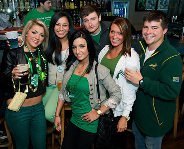 Friends gather at Mt Adams Pavilion for St. Patrick's Day