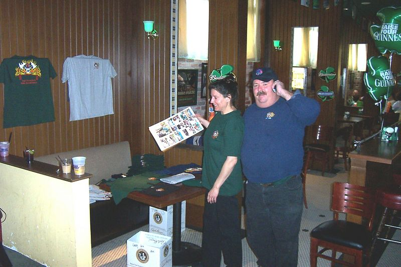 Sandy & John setting up indoor Booth