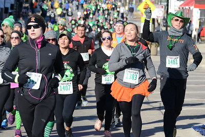 St. Patrick's Day - 5K Race - Naperville, Illinois - March 10, 2018