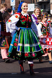 Polish Dancer in the Birmingham St. Patricks Festival Parade