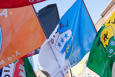 Flags flying during the Birmingham St. Patrick's Festival Parade
