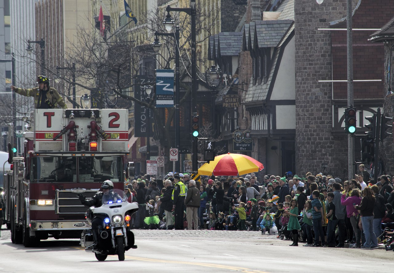 St Patrick's Day Parade, Milwaukee Wisconsin USA 2016