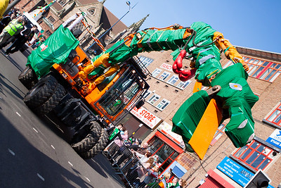 A dragon takes to the streets during the Birmingham St. Patricks Festival Parade