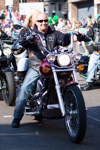 Bikers join in the Birmingham St. Patricks Festival Parade