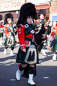 Piper in action during the Birmingham St. Patricks Festival Parade