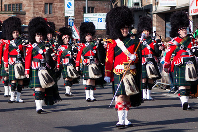 Marching Band in the Birmingham St. Patricks Festival Parade