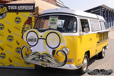 The Traveler Beer Co's souped up Volkswagon bus.