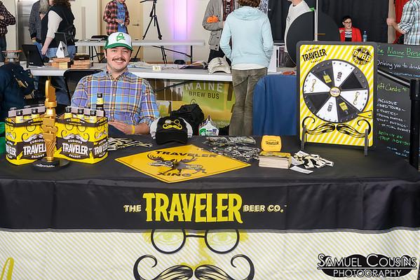 The Traveler Beer Co booth at the Facial Hair Farmer's Market.