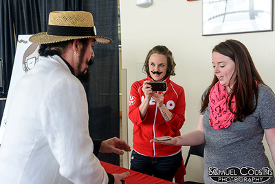 Yelp Maine booth at the Facial Hair Farmer's Market.