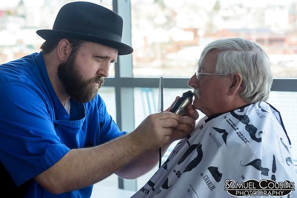 High & Tight doing touch-ups at the Facial Hair Farmer's Market.