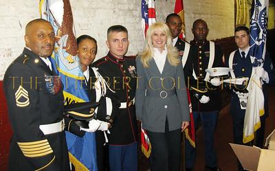 Sfc. Holloway, HT2 Lacroix, Sgt. Luckwaldt, Sara Herbert-Galloway, Ssg. Wilson, Sgt. Bell, Sn Hinderhofer