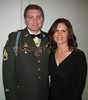 Staff Sgt. Brian Wells wearing Medal of the Order of St. Maurice with wife Michelle